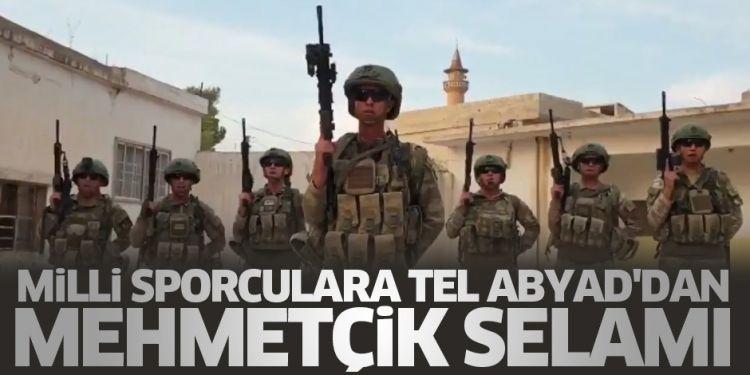 """Tel Abyad'daki kahraman komandolarımızdan milli sporculara mesaj: - """" Selamınızı aldık, gözünüz arkada kalmasın! """" - VİDEO"""
