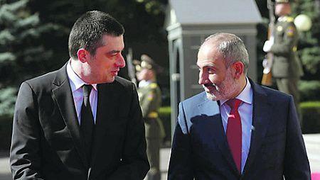 Пашинян и Гахария объявили о полном взаимопонимании
