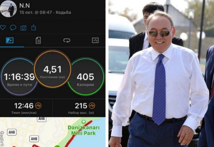 Назарбаев прогулялся пешком по всему Бакинскому бульваруg