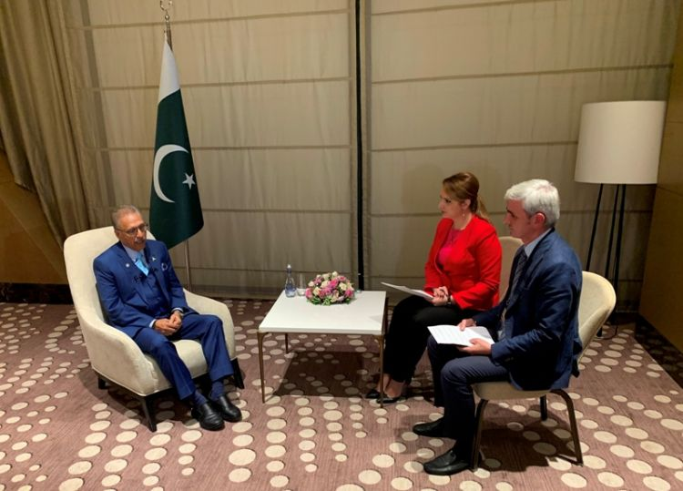 President of Pakistan gave an exclusive interview to three mass media in Azerbaijan