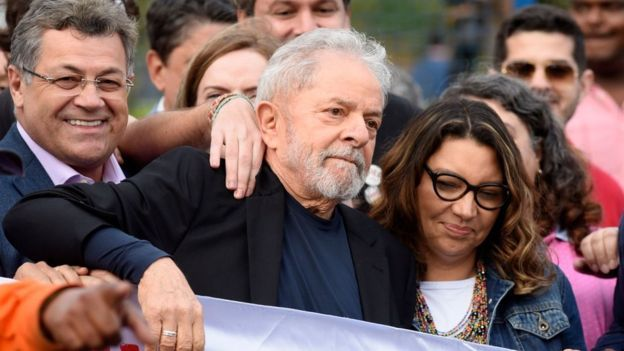 Ex-President of Brazil released from prison