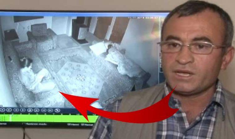 Eve kamera yerleştirdi! Görüntüleri izleyince şoke oldu - Çocuğun burnun kanatana kadar dövdü - VİDEO