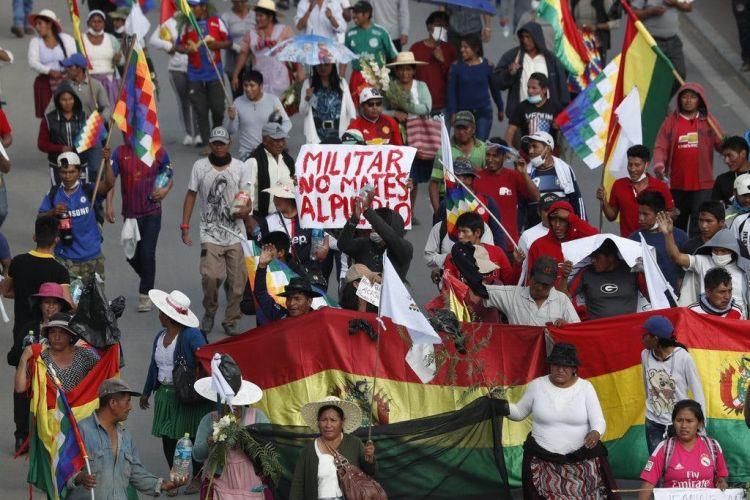 Bolivian interim leader meets UN envoy amid violence fearsg