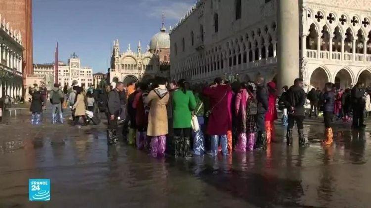 """إيطاليا: إعلان """"حالة الطوارئ"""" في البندقية بعد تهديد منسوب المياه المرتفع للمعالم الأثرية"""