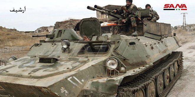 الجيش يقضي على مجموعات إرهابية في منطقة سنجار بريف إدلب الجنوبي الشرقي