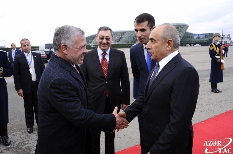 ملك الأردن يصل في زيارة رسمية إلى أذربيجانg