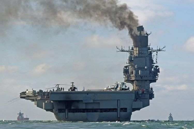 Russia's sole aircraft carrier catches fire in Northern port - three injured - UPDATED - VIDEO