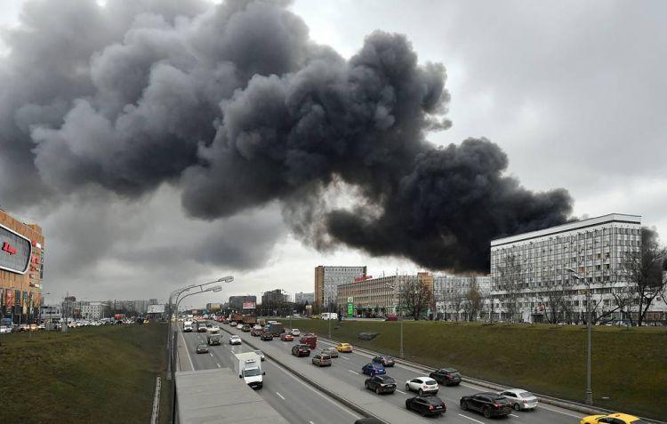 Пожар на Варшавском шоссе в Москве