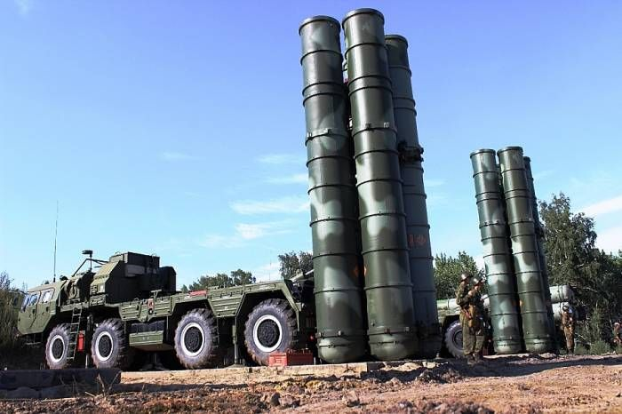 Russian combat teams have defended the S-400 missile system from a drone attack