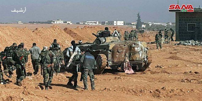الجيش يطهر قرى وبلدات بريف إدلب ويتقدم على اتجاه مدينة معرة النعمان وسط انهيار في صفوف الإرهابيين