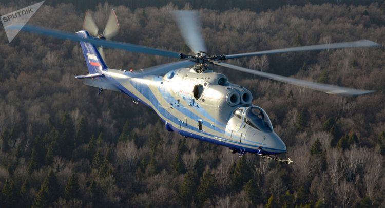 US Air Force use Mi-24 helicopters to simulate enemy in drills