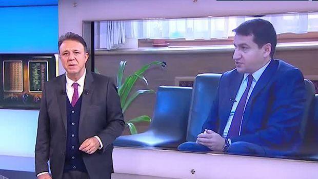 حكمت حاجييف يدلي بتصريحات لقناة التلفيزيزن التركي - البلد المعتدي يحاول تقديم نفسه كمحب للسلام ولكنه لم يتخل عن سياسته العدواني - الفيديو