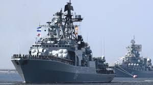 Russian warships launched a massive missile attack on the terrorists near Aleppo