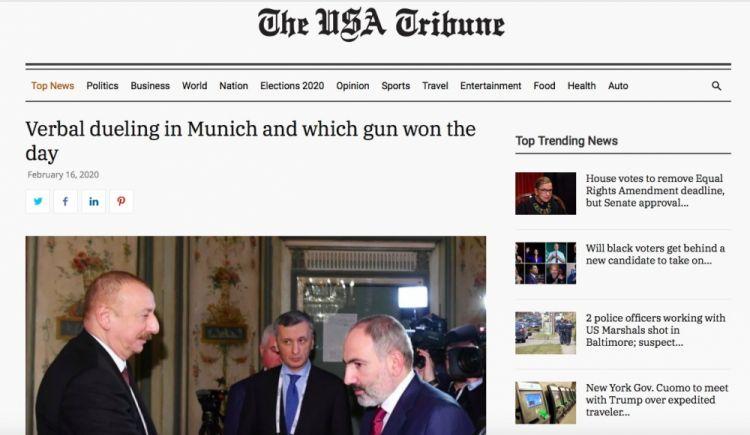 """:   """" The USA Tribune """"  الصحيفة الأمريكية - المبارزة الكلامية في ميونيخ و""""مسدس"""" الفائز فيها"""