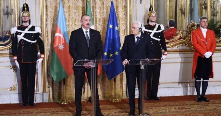 Azerbaycan ve İtalya Cumhurbaşkanları görüştü