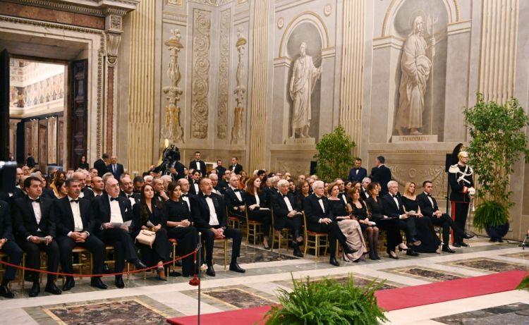 الرئيس إلهام علييف والسيدة الأولى مهربان علييفا يشاركان في الحفل الموسيقي بمناسبة افتتاح سنة الثقافة الأذربيجانية