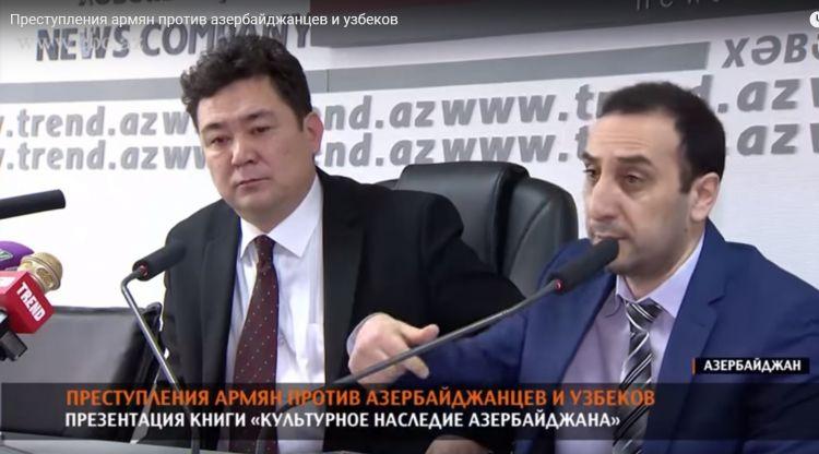 Özbəkistanlı erməni özbək tarixçisini və Azərbaycanı təhqir etdi - VİDEO