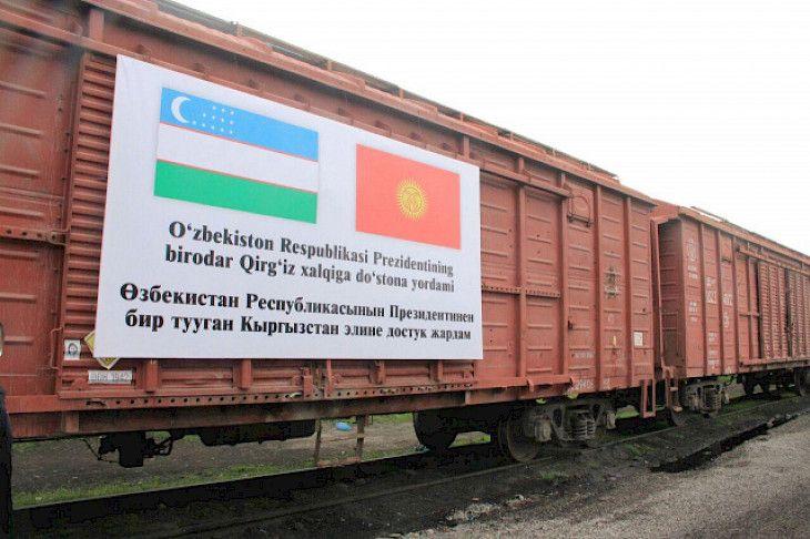 Özbekistan'dan Kırgızistan'a insani yardım