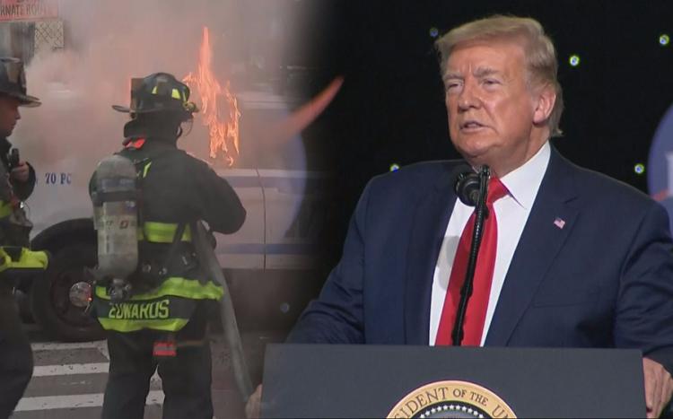 Trump spent Friday night in bunker of White House