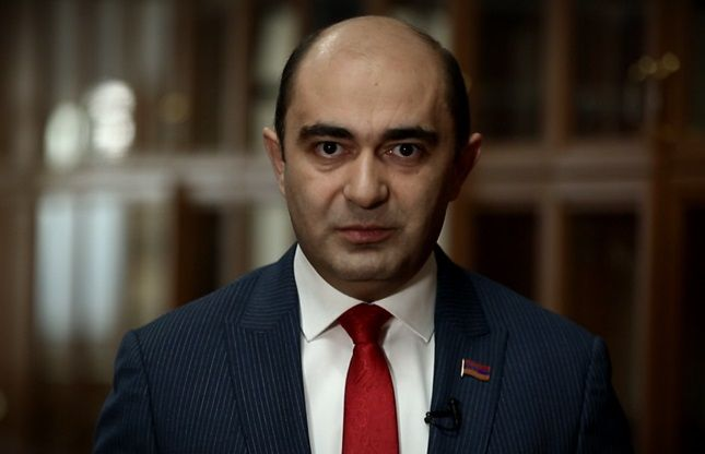 Armenia parliament opposition party leader suggests holding online protest against increase in property taxes