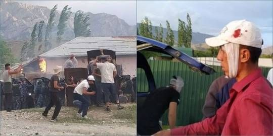 İki türk dövlətin sərhəddində gərginlik yaşandı: 15 yaralı - FOTO - VİDEO