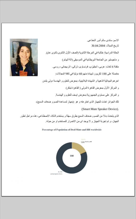 اصغر مخترعة مصرية تحصد جوائز دولية وتتقن 6 لغات