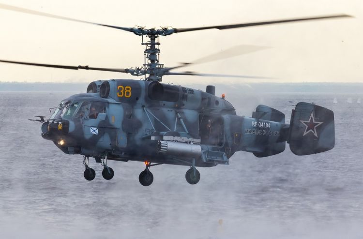 Heavily armed Russian Ka-29 helicopters are preparing for Arctic operations - VIDEO