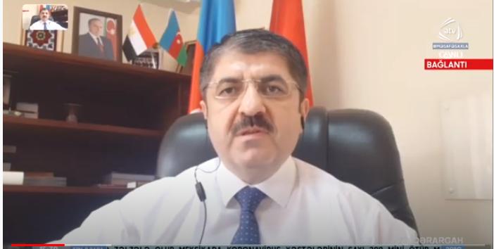 رئيس الجالية الأذربيجانية في مصر د. سيمور نصيروف يتحدث لقناة - آ تي في-  الأذربيجانية عن كيفية مكافحة فيروس كورونا في مصر - الفيديو