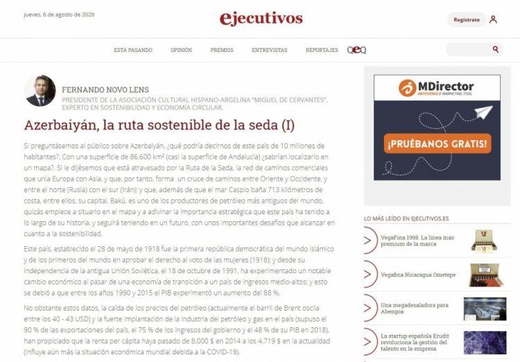 مجلة Ejecutivos الاسبانية تدرج مقالا عن عدوان أرمينيا على أذربيجان