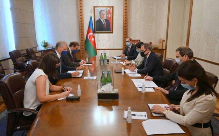 وزير الخارجية يلتقى ممثل الاتحاد الأوروبي في أذربيجان كيستوتيس يانكوسكاس