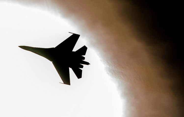Russia's Su-27 fighter jet scrambled to intercept US spy planes over Black Sea