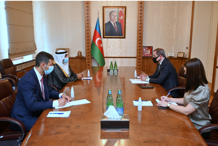 Foreign Minister Jeyhun Bayramov received Mohamad Ahmed Hamil Al-Qubaisi, the Ambassador of the United Arab Emirates to the Republic of Azerbaijan upon the termination of his diplomatic tenure