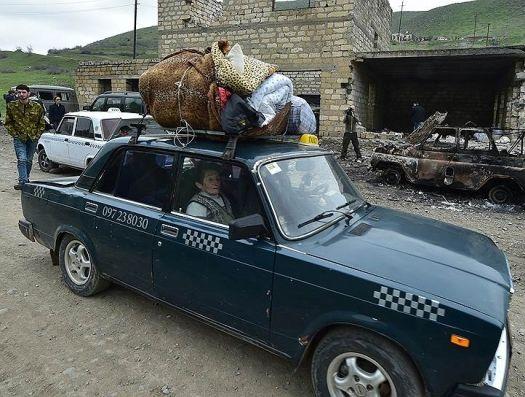 Началась эвакуация армянского населения из Агдере (Мардакерта) и Мадагиса