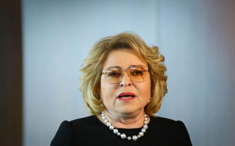 Matviyenko qlobal qüvvələri Qarabağ münaqişəsinə qarışmamağa çağırıb