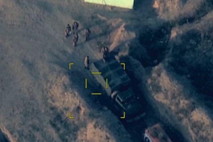 Azərbaycan Ordusu düşmənin canlı qüvvələrini məhv etməkdə davam edir - VİDEO