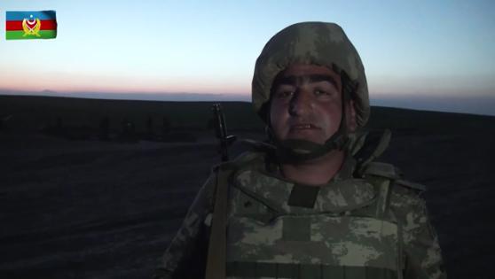 Азербайджанский солдат обратился к народу - ВИДЕО