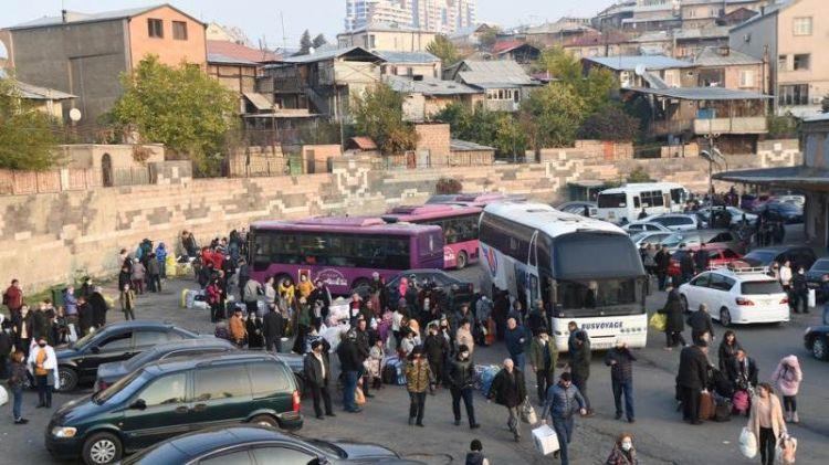Son sutka ərzində 1,700 nəfərdən çox erməni əhalisi Dağlıq Qarabağa geri qayıdıb