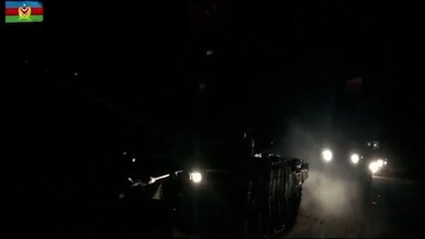 Azerbaijani army entered Lachin region - VIDEO