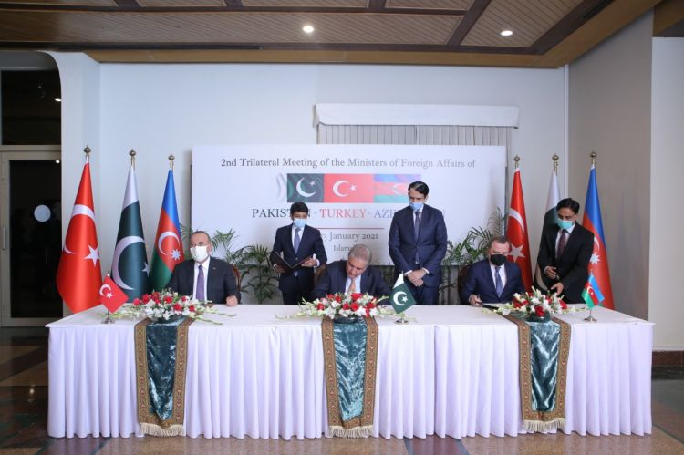 Azerbaijan, Turkey and Pakistan signed declaration in 2nd trilateral meeting