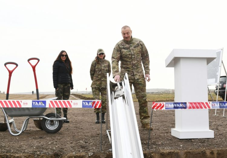 President Aliyev has laid the foundation of the Fizuli-Shusha road and airport in the Fizuli region - PHOTOS