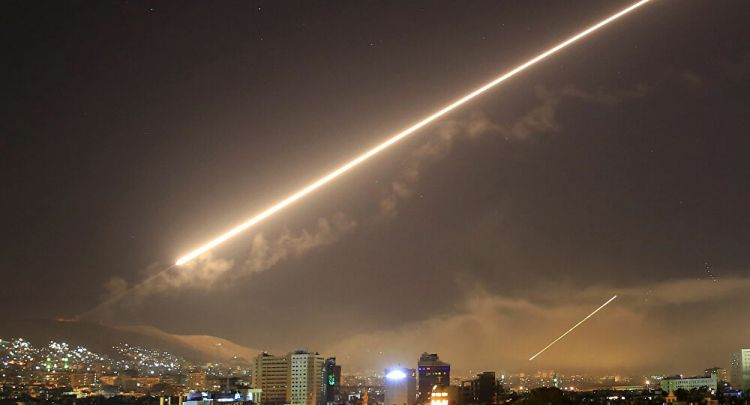 Syrian Air Defenses respond to attack in Hama