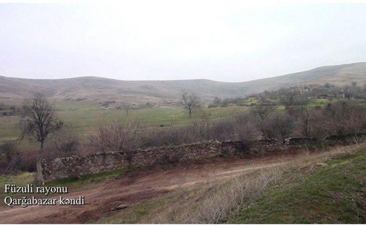 Видеокадры из села Гаргабазар Физулинского района - ВИДЕО