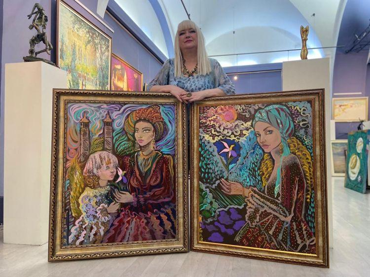 Шушинские красавицы глазами французской азербайджанки - Выставка Нигяр Нариманбековой - ВИДЕО