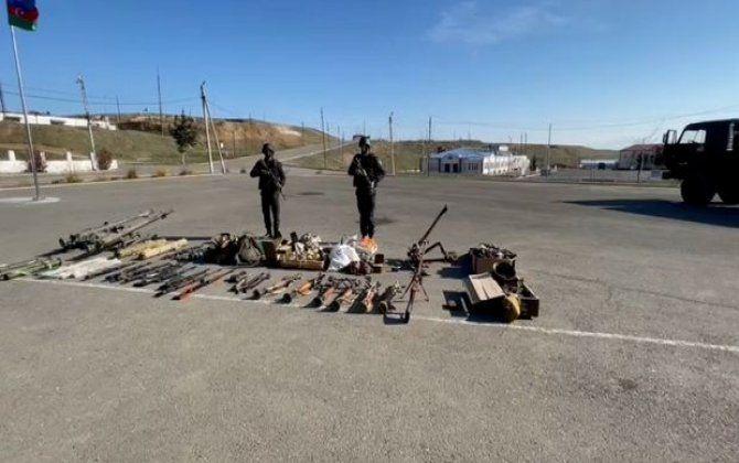Düşmənin atıb qaçdığı yeni silah-sursatlar aşkar edildi - VİDEO