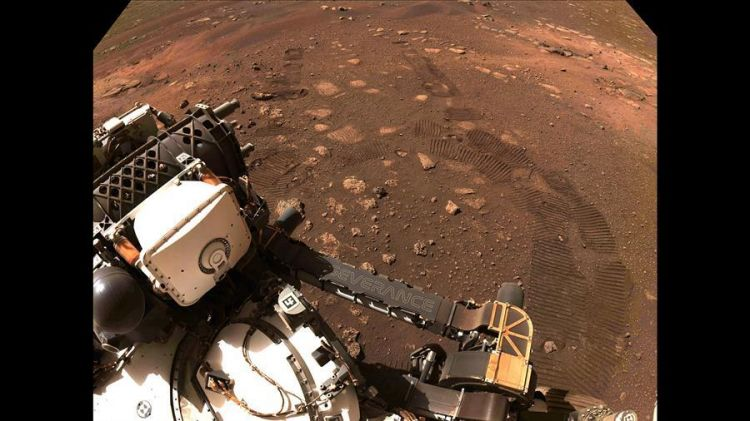 NASA's new Mars rover hits dusty red road