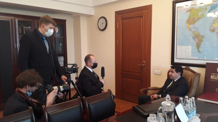 Aide to President Hikmat Hajiyev gave an interview to the Lithuanian journalist - VIDEO