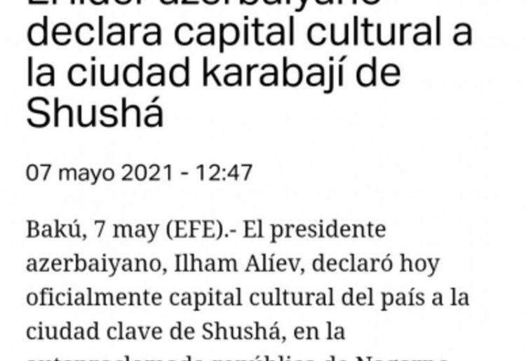 Швейцарское издание пишет об объявлении Президентом Ильхамом Алиевым города Шуша культурной столицей Азербайджана - ФОТО