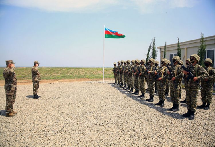 Azerbaijani Minister of Defense took part in the opening of new military units stationed in the liberated territories - VIDEO