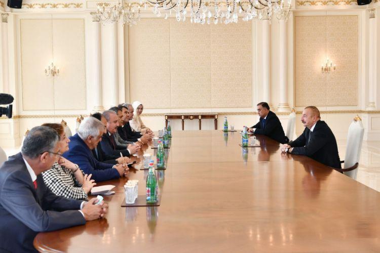 Президент Ильхам Алиев принял председателя ВНСТР