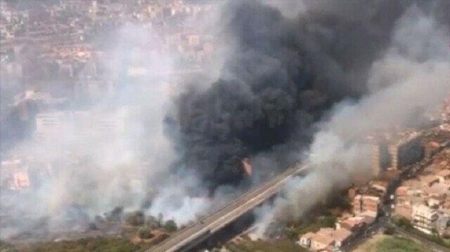 Italian island of Sicily battling forest fires